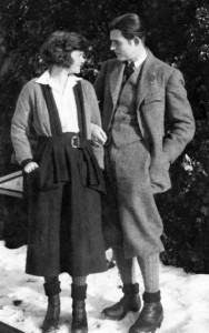 Ernest Hemingway and Elizabeth Hadley Richardson in Switzerland